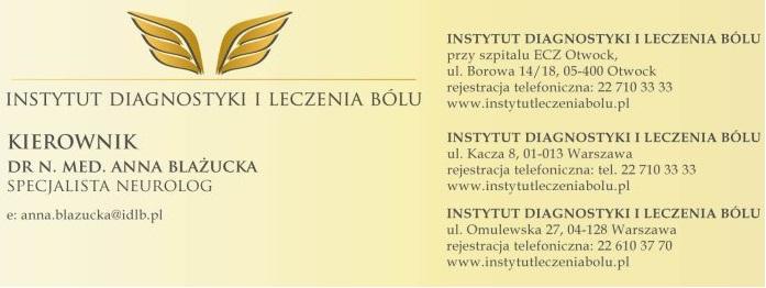 Instytut Diagnostyki i Leczenia bólu, Warszawa, Otwock