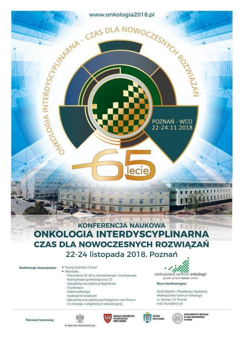 65 lat WCO, konferencja naukowa onkologia interdyscyplinarna